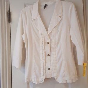 NWT XCVI White Jacket